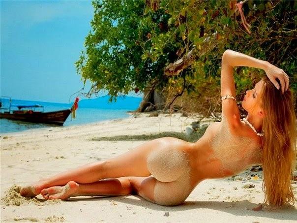 Fotos de vacaciones desnuda de la playa