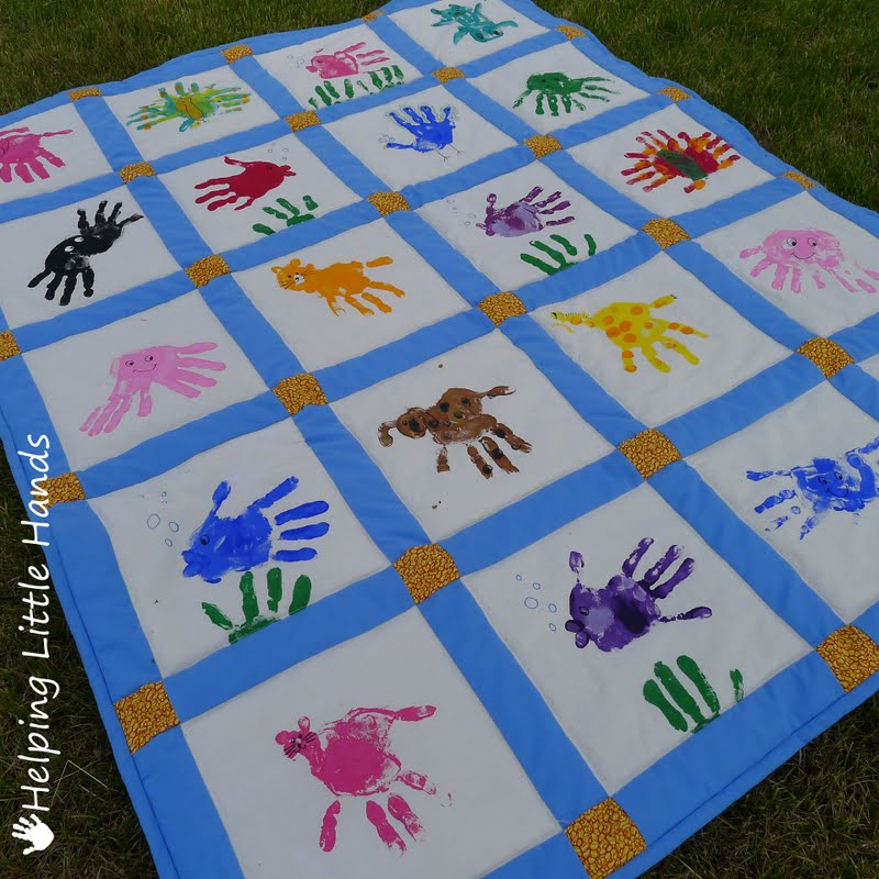 Pieces by Polly: Hand Print Animals Quilt : quilting hands - Adamdwight.com