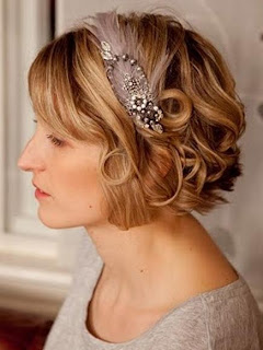 Short Bob Wedding with Headband Picture