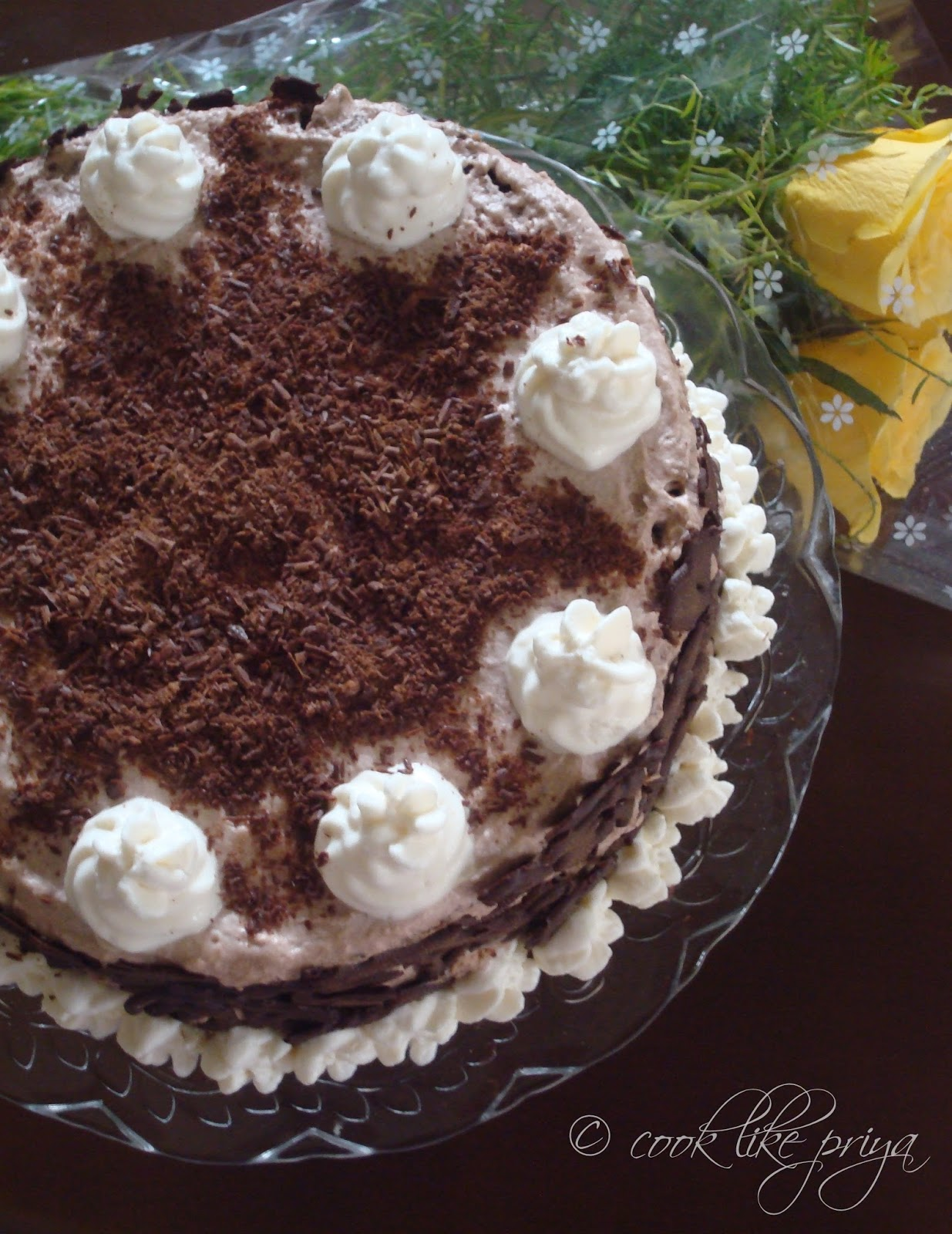 Cook like Priya Chocolate Forest Cake Happy Birthday Husband