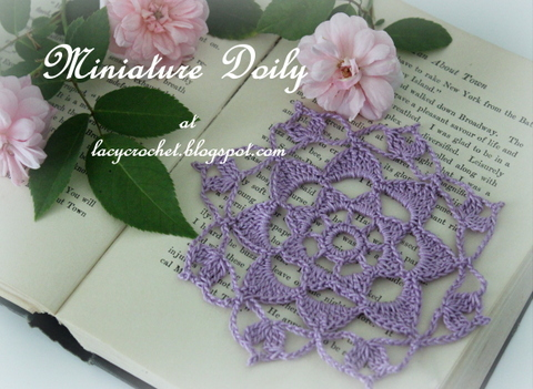 Lacy Crochet Miniature Doily My Free Pattern
