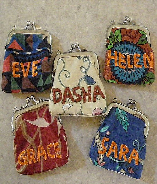 Home-made holiday presents coin purses