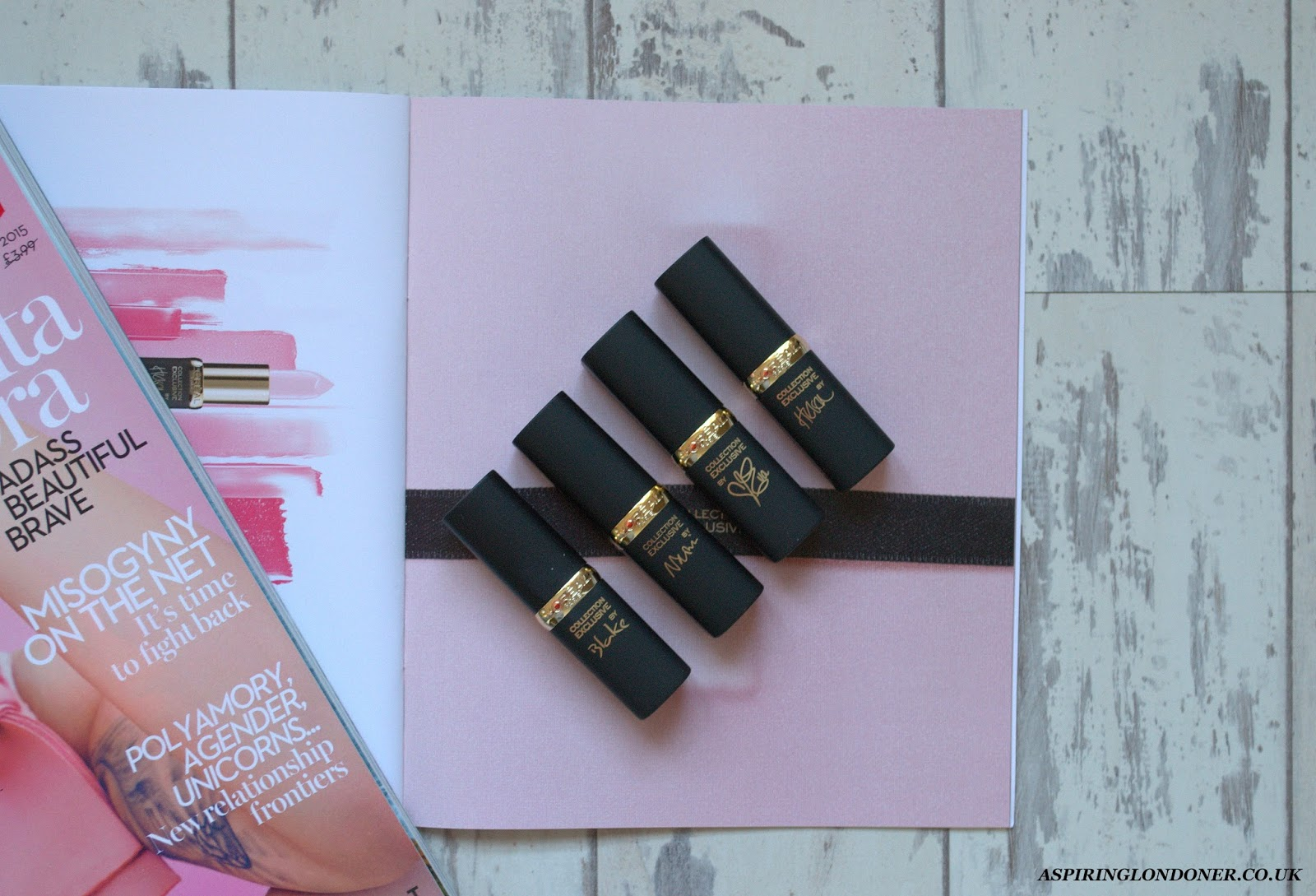 L'Oreal La Vie En Rose Lipstick Collection Exclusive Review Swatch - Aspiring Londoner