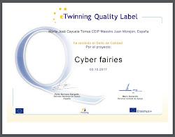 Sello de Calidad eTwinning por el proyecto Cyber fairies.