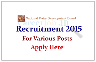 National Dairy Development Board Recruitment 2015 Engineering professionals for the post of Deputy Manager