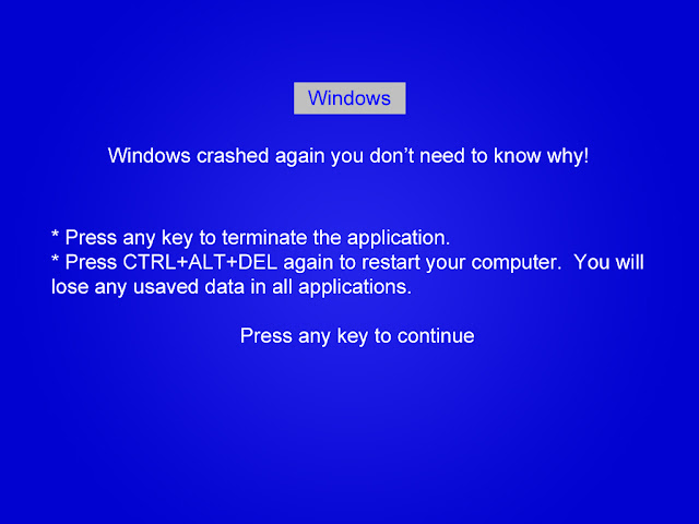 Blue Screen of Death image - Funny Geek Jokes