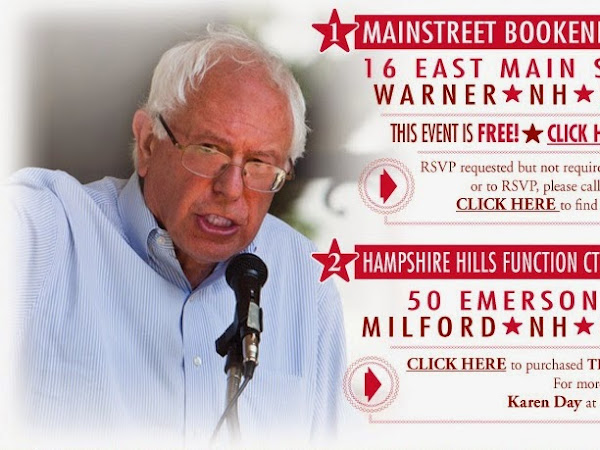 Don't Miss Senator Bernie Sanders In NH Saturday!