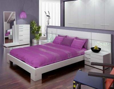 decoración de dormitorio morado