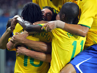 Brazil celebrate their Odds World Cup 2014