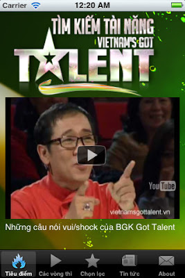 Xem Vietnam's Got Talent tren Iphone