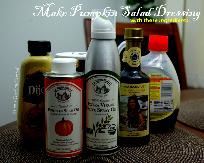 Ingredients for Pumpkin Seed Oil Dressing