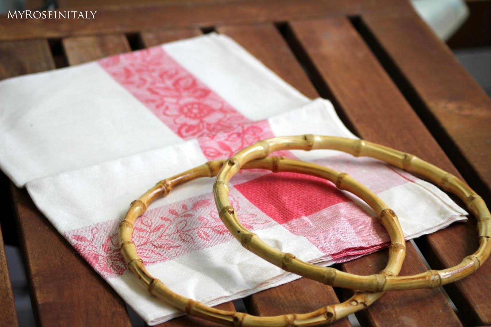 My roseinitaly diy borsa canovaccio fai da te - Canovaccio da cucina ...