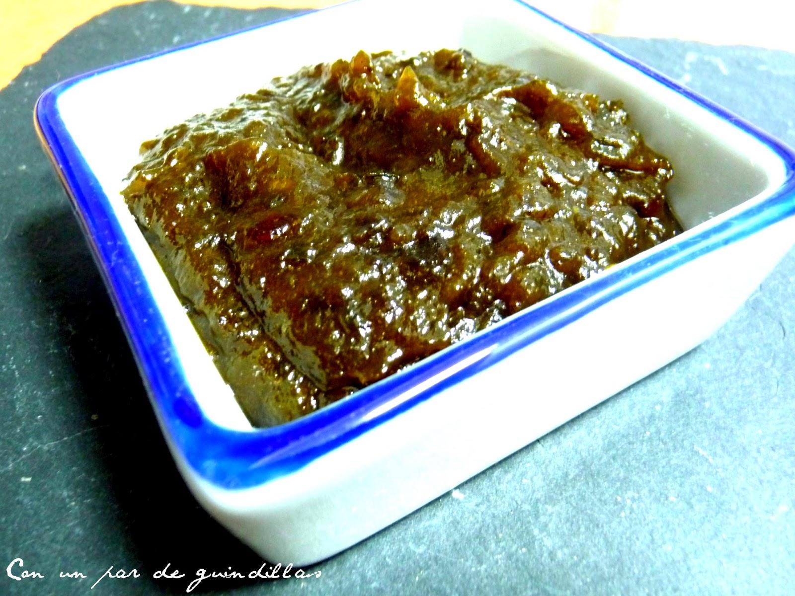Mermelada un poco chutney de pimientos verdes picantes - Como hacer mermelada de pimiento ...