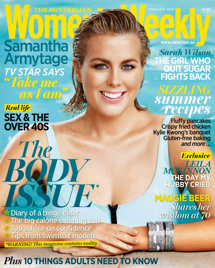 Journalist & News Presenter: Samantha Armytage for The Australian Women's Weekl