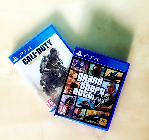 Morgan's Milieu   Would You Let Your Child Play 18 Rated Games?: Photo of Call of Duty Advanced Warfare and Grand Theft Auto Five