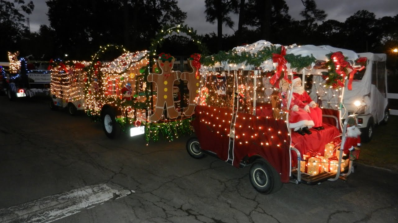 retirement rocks 2011 christmas golf cart parade - Golf Cart Christmas Decorations