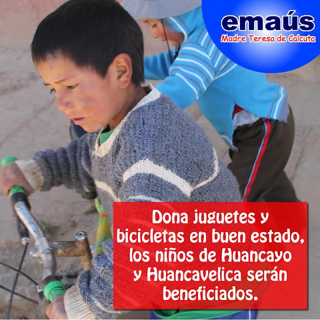 Donación de bicicletas y triciclos