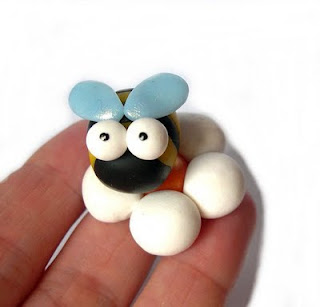 Bee in polymer clay