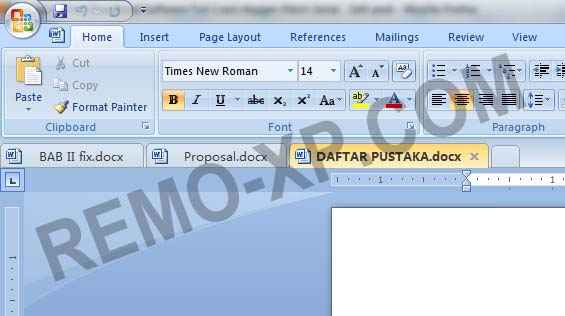 Screenshoot di office word 2007.
