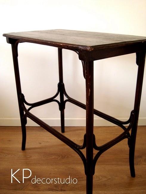 Mesitas auxiliares thonet. mesas vinatge de madera.