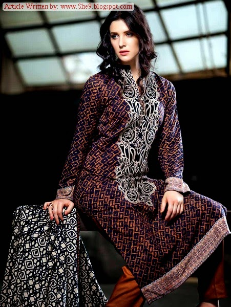 Gul Ahmed Winter/Fall 2014 Pali Collection