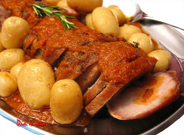 Lomo de Cerdo con Salsa de Pimientos