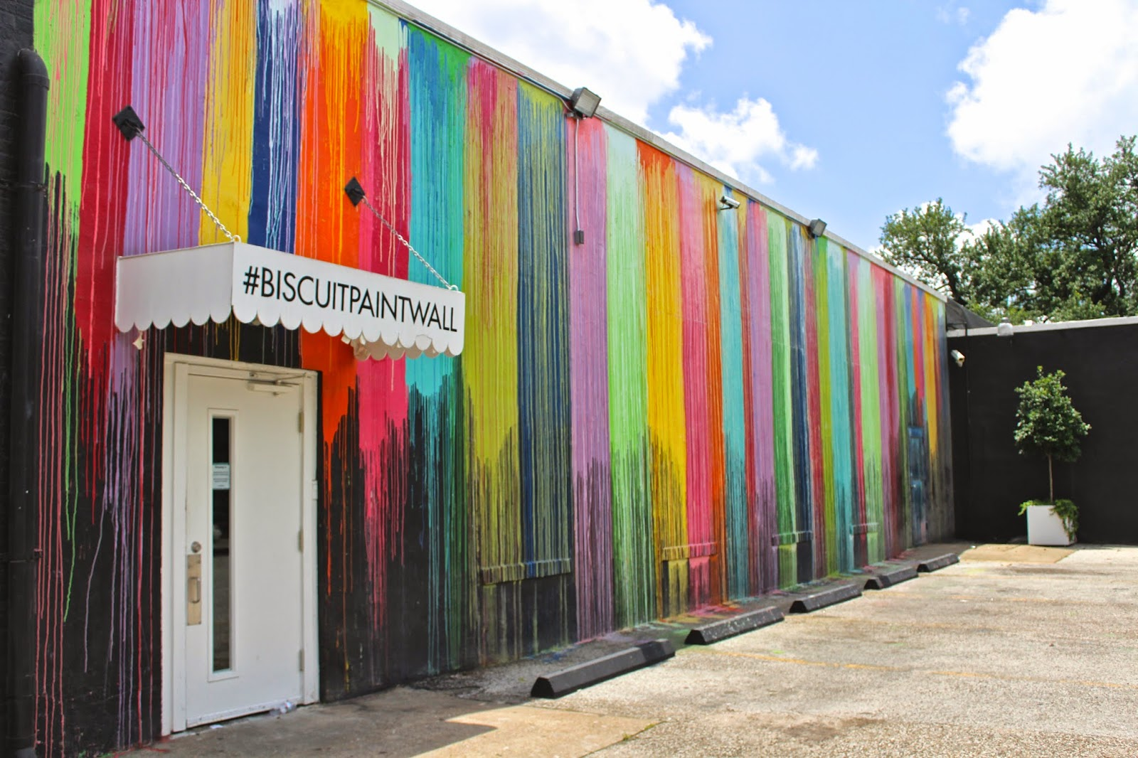 This My Friends, Is Known As The #biscuitpaintwall And Is Connected To An  Adorable Little Shop Called Biscuit Home In The Montrose Area Of Houston.