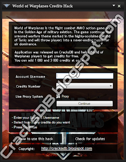 World of Warplanes Credits Hack