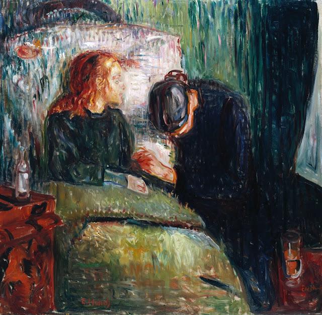 Den syge pige / Det syge barn - Edvard Munch, 1907