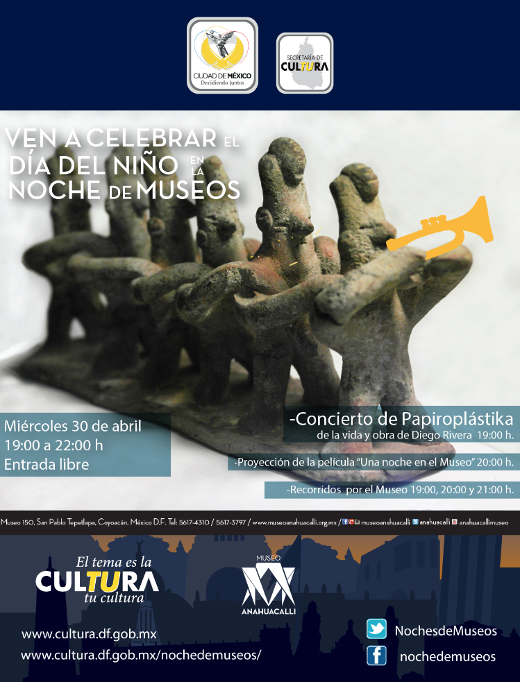 Noche de Museos en el Museo Anahuacalli / 30 de Abril