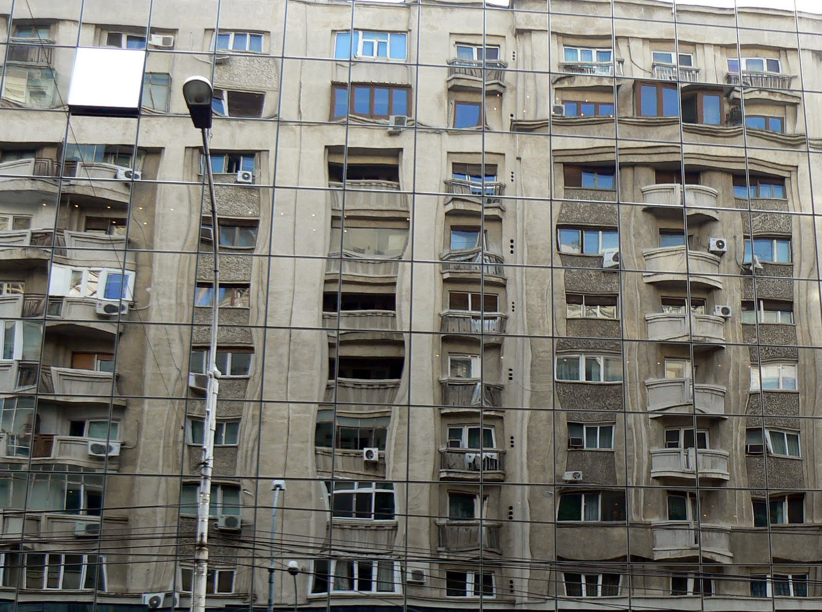 An englishman abroad corner view reflections for Bucharest apartments