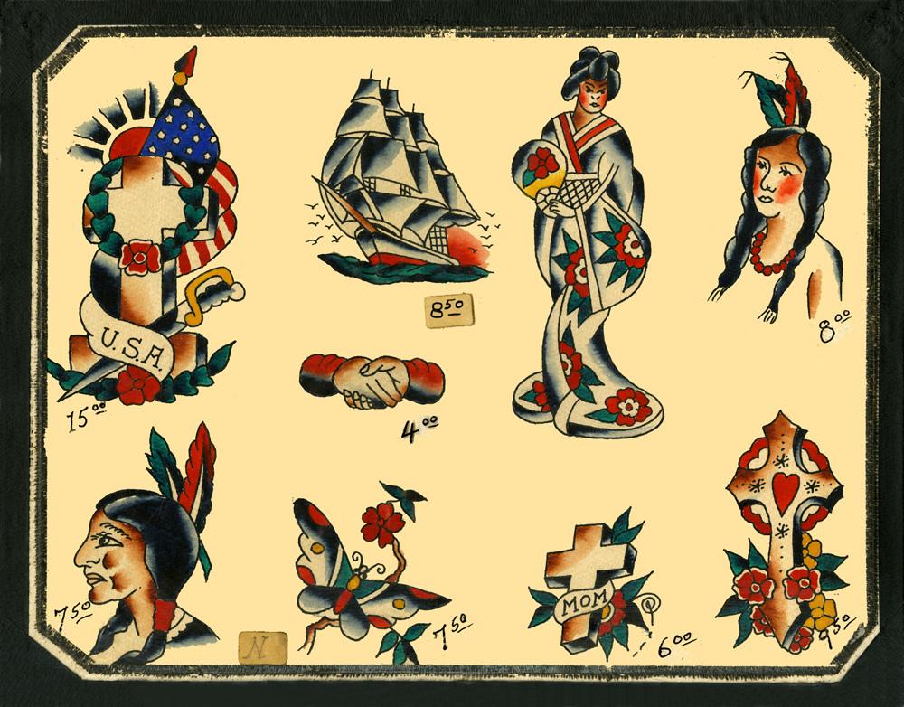 vintage tattoo flash book pdf