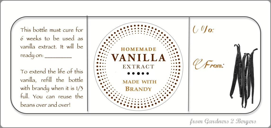 vanilla extract labels just wire