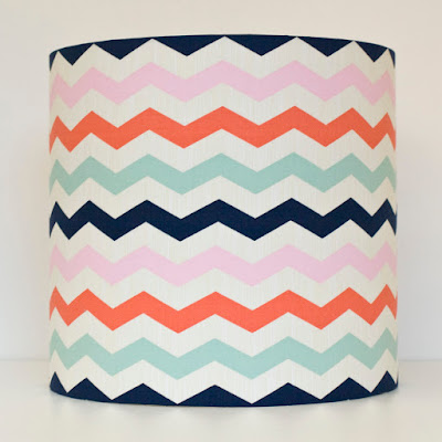 Chevron fabric lampshade by Welaughindoors
