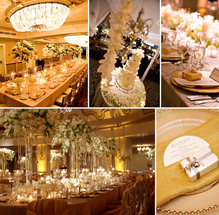 Golden wedding decoration