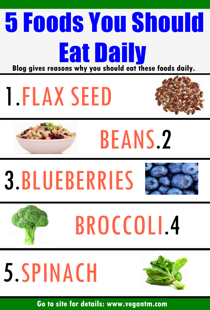 5 Foods To Eat Daily