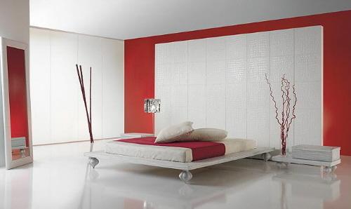 Habitaciones en rojo y blanco dormitorios colores y estilos for Matrimonial bedroom design