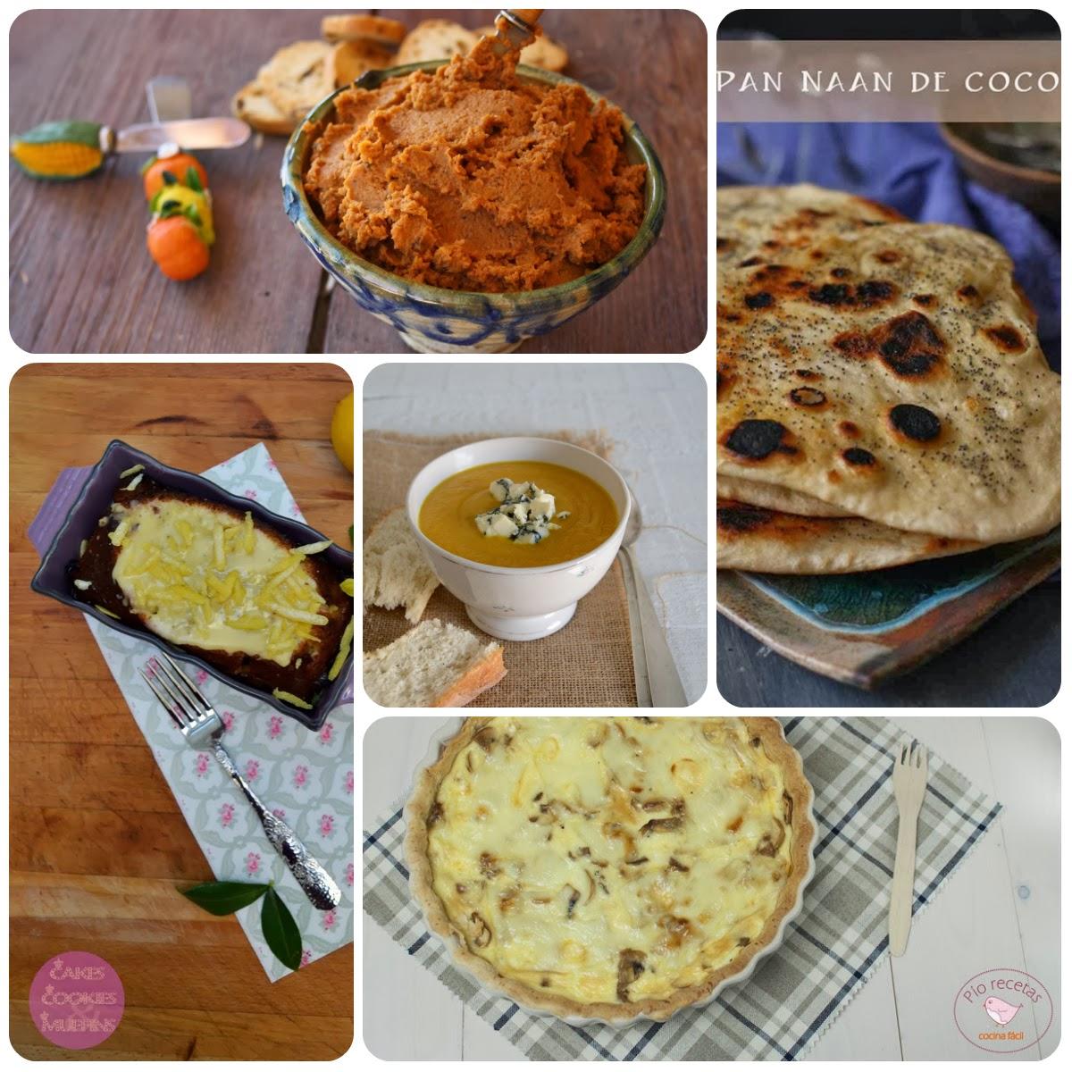 Platos del tercer menú vegetariano con recetas de otros blogs.