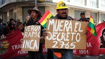 Los sindicatos bolivianos declaran una huelga general de tres días