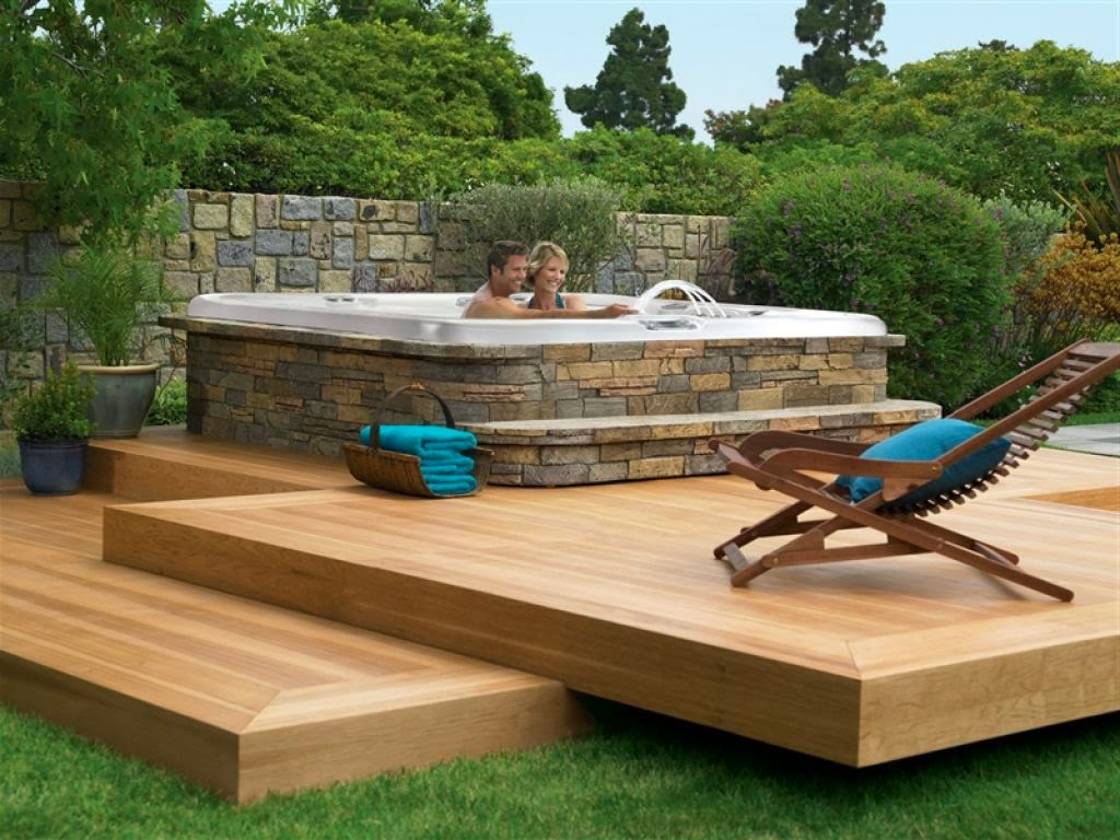 Austin cubed for Hot tub deck designs plans
