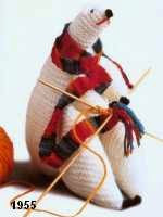 patron gratis oso polar amigurumi de punto, free knit amigurumi pattern polar bear