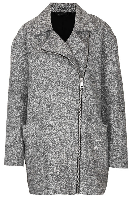 grey coat with zip