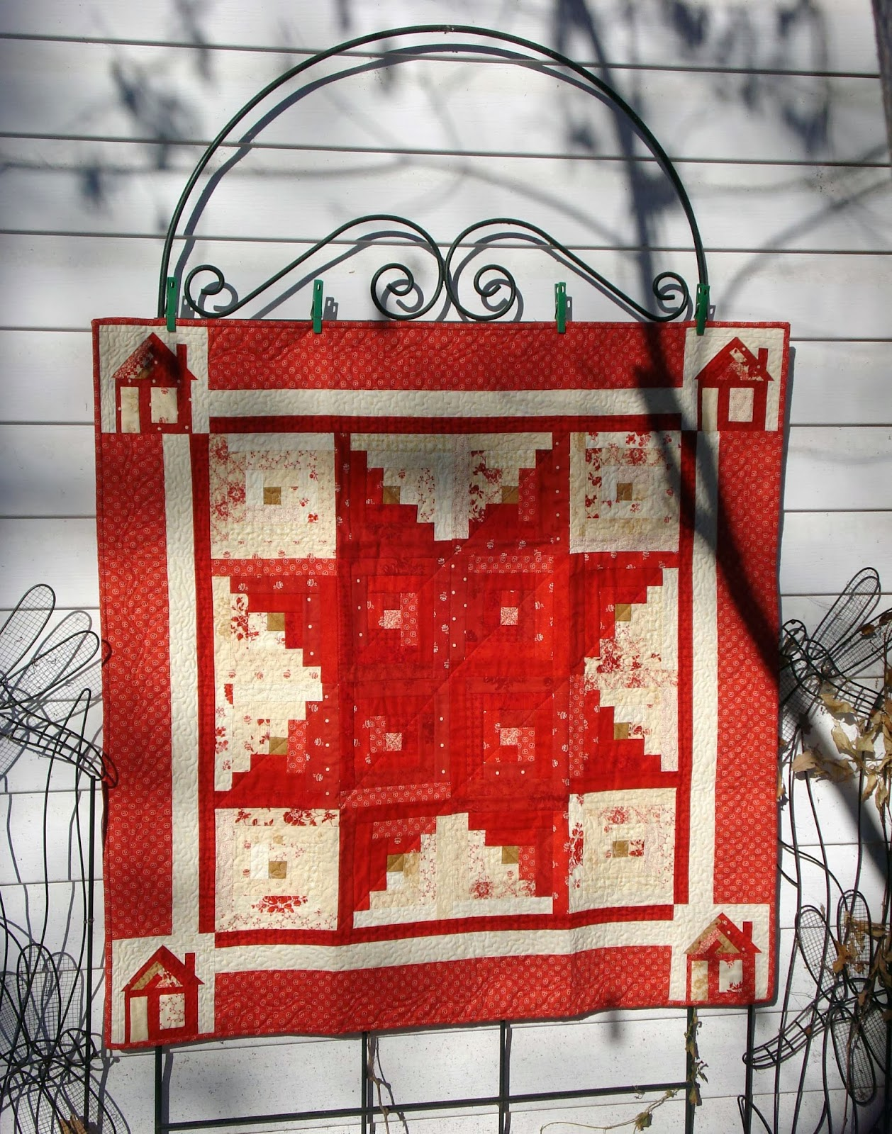 Marvelous photograph of Star Log Cabin and Mini Quilt « Moda Bake Shop with #AF241C color and 1258x1600 pixels