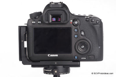 Sunwayfoto PCL-6D L Bracket on Canon EOS 6D - back view