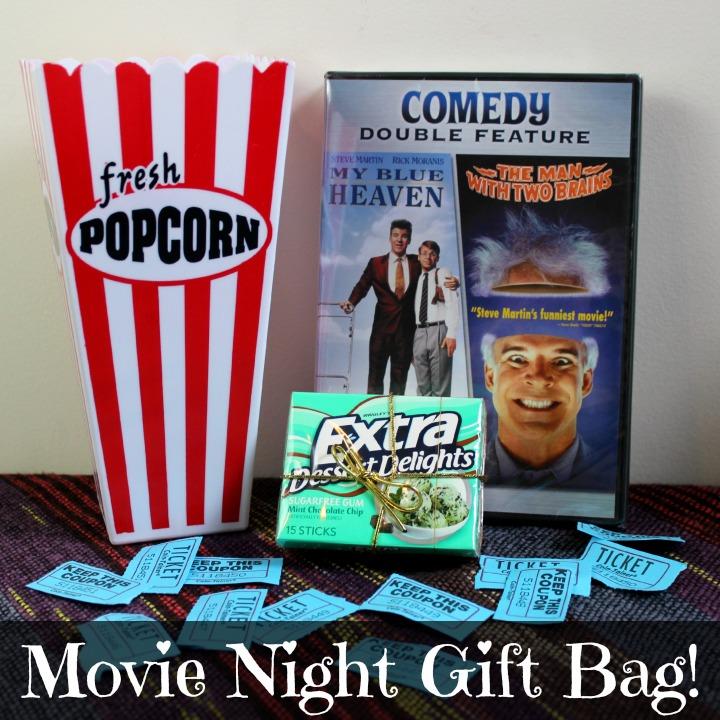 Movie Night Gift Bag idea #extragummoments #collectivebias