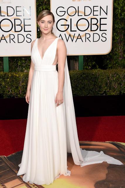 Saoirse Ronan Saint Laurent Golden Globes 2016