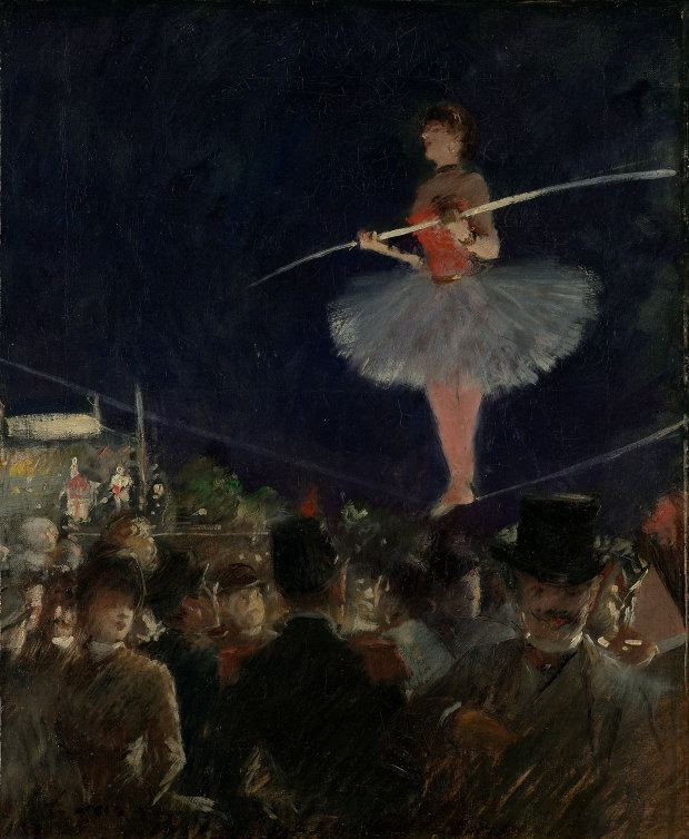Jean-Louis Forain - The Tightrope Walker - 1885