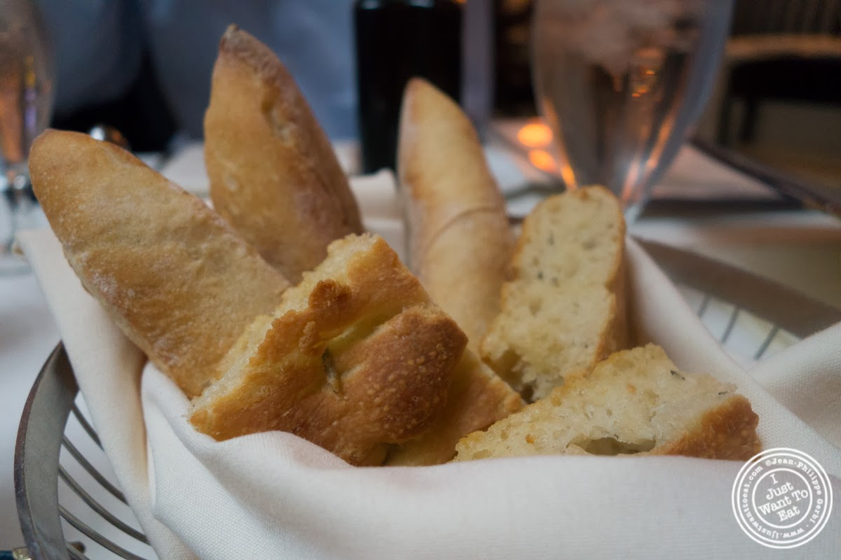 image of bread basket at Remi, in Midtown West, NYC, New York