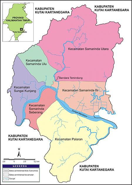 Peta Kota Samarinda