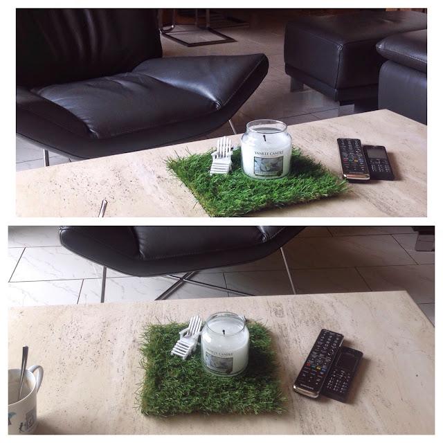 rasen auf dem tisch dekoration echt. Black Bedroom Furniture Sets. Home Design Ideas